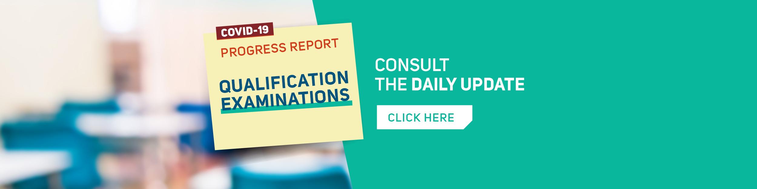 Qualification examinations progress report
